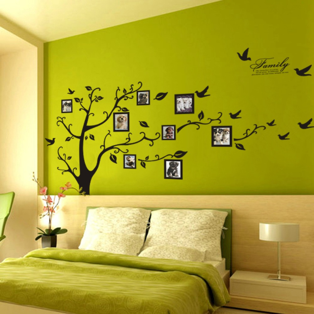 Large Adhesive Family Tree Wall Mural Stickers